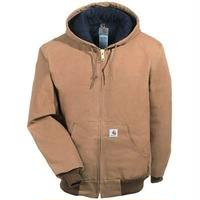 Carhartt Duck Active Jacket ( Quilted Flannel Lined ) Brown