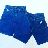 Pointer Brand Indigo Denim Carpenter Shorts - Washed