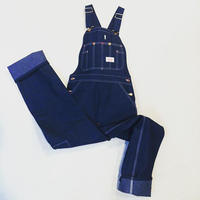 Round House Made in USA Classic Blue Denim Button Fly Bib Overalls
