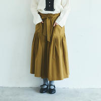 天日干しコットン・ティアードスカート/マスタード