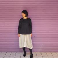 Jikonka リボン結びスカート  / オフホワイト