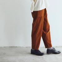 コットン・マイクロコーデュロイ・パンツ/キャラメルブラウン
