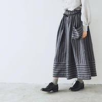 トライプリネン・ファーマースカート/チャコール