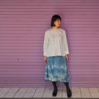 Jikonka  リボン結びスカート / 藍染