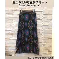 【Desigual (デシグアル)】カラフルフラワープリーツスカート
