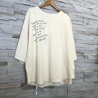 【CHIGNONSTAR(シニオンスター)】メッセージプリントリラックストップス