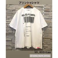 【THOMAS MAGPIE(トーマスマグパイ)】バーコードアートプリントTシャツ