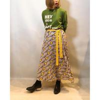 【THOMAS MAGPIE(トーマスマグパイ)】鍵柄プリントプリーツスカート