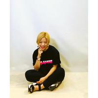 【Pauline Bleu(ポリーヌブロー)】ドロップペイントプリントビッグシルエットTシャツ