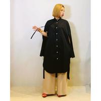 【THOMAS MAGPIE(トーマスマグパイ)】ノーカラーデザインシャツワンピース