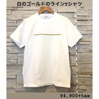 刺繍ラインシンプルTシャツ