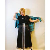 【Pauline Bleu(ポリーヌブロー)】シンプルチェックシャツ