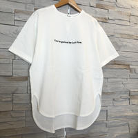 【Dignite collier(ディニテコリエ)】ロング丈シンプルロゴTシャツ