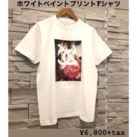 【Lサイズ!】ホワイトブラシボックスアートTシャツ