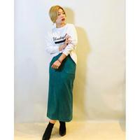 【ROSIEE(ロージー)】フェイクストレッチスエードスカート