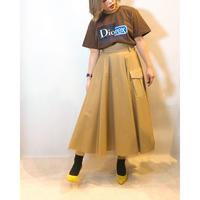 チュールレイヤードカジュアルチノスカート