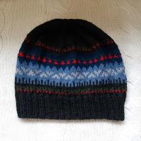 手編みのニット帽(フェアアイルB )