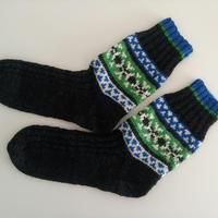 手編手編みの靴下(ノルディックA)