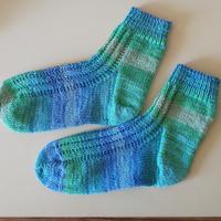 手編みのアンクルソックス(レラーナ)