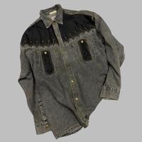 vintage euro design denim shirt