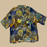 vintage euro viscose rayon flower shirt