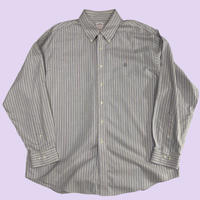 old 90s Brooks Brothers stripe over size shirt