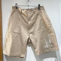 over print/baker half pants *WONDER VISITOR (sand)