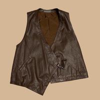 vintage euro design leather vest