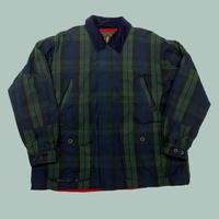 vintage euro cotton check Oiled jacket