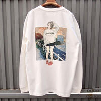 """over print""""sunset"""" L/S Tee"""
