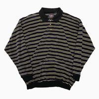 vintage euro velour border polo shirt