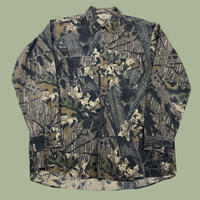 vintage us real tree camo over size shirt