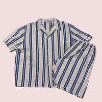 vintage euro stripe pajama setup s/s