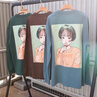 """over print """"CANDY"""" L/S Tee"""