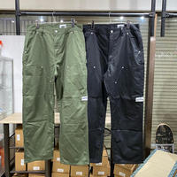 over print double knee pants