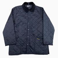 vintage euro Barbour nylon quilting jacket black