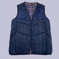 vintage euro Barbour nylon quilting vest