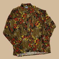 vintage euro 80s viscose rayon shirt