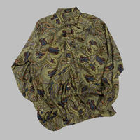 vintage euro print silk shirt
