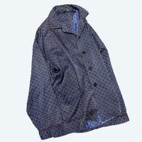 vintage euro satin pajama open collar shirt