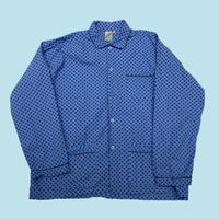 vintage euro print cotton pajama shirt