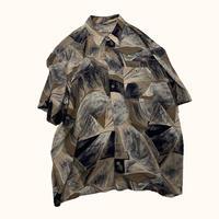 vintage euro over size print rayon shirt