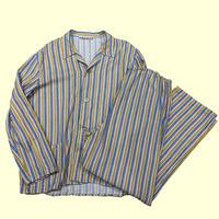 vintage euro stripe pajama set up