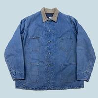 vintage us over size denim coverall jacket