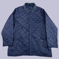 vintage euro Barbour nylon quilting jacket navy