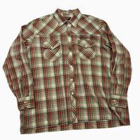 vintage euro poly rayon check shirt