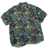 vintage euro rayon print shirt