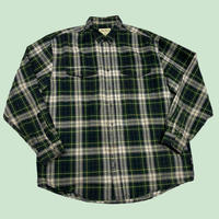 vintage us over size damage check shirt ダメージ加工