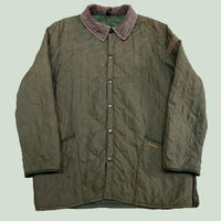 vintage euro Barbour nylon quilting jacket olive