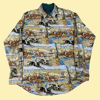 vintage euro 70s rétro print shirt